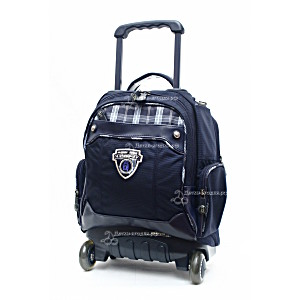 Школьный рюкзак на колесах – ранец Wheelpak Tartan Navy – арт. WLP2136 (для 0-3 класса, 15 литров)