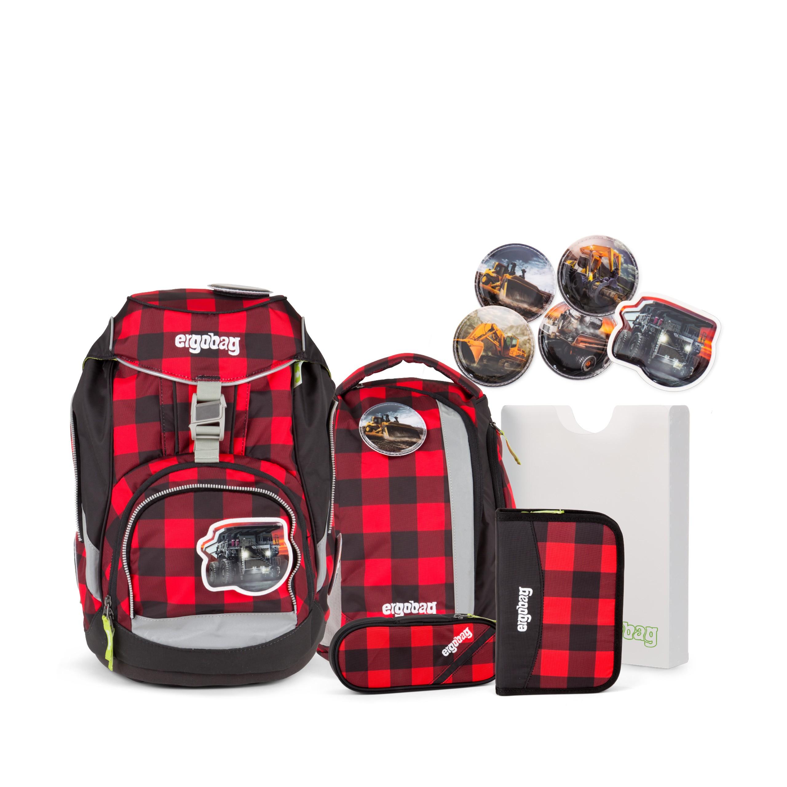 Рюкзак Ergobag LumBearjack с наполнением + светоотражатели в подарок, - фото 1